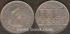 1 доллар 1982