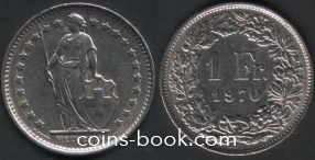 1 франк 1970