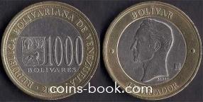 1000 боливар 2005