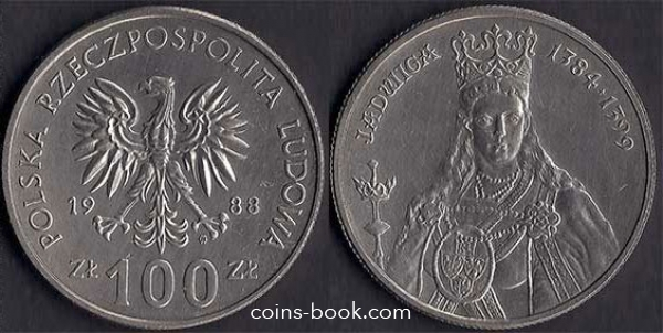 100 złotych 1988