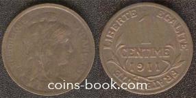 1 centime 1911