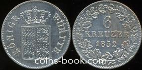 6 крейцеров 1852