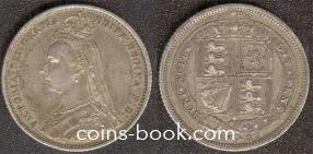 6 пенсов 1887
