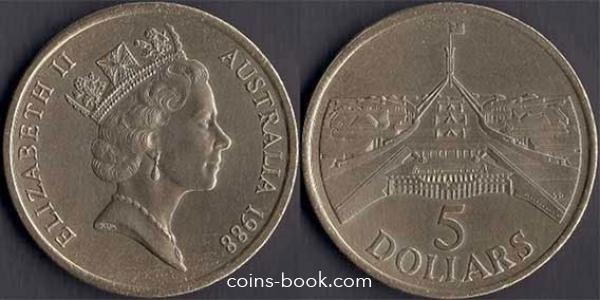 5 долларов 1988