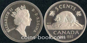 5 cents 1992
