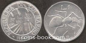 1 lira 1974