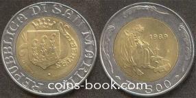 500 лир 1989