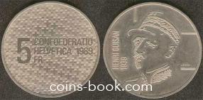 5 франков 1989