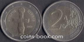 2 евро 2008