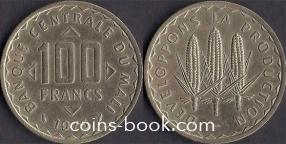 100 франков 1975