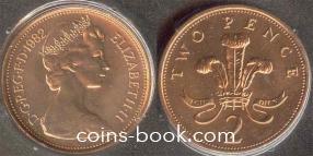 2 пенсов 1982