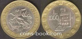 1000 лир 1997