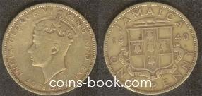 1 пенни 1940
