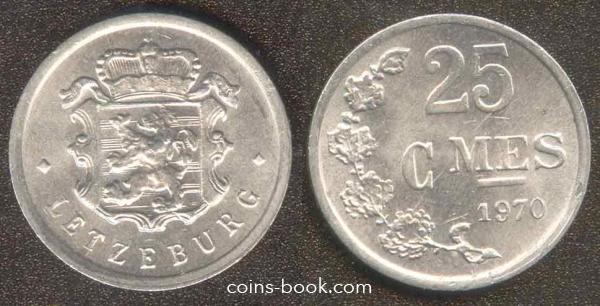25 сантимов 1970