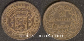 2,5 centimes 1908