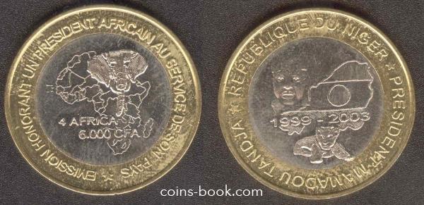 6000 CFA francs 2003