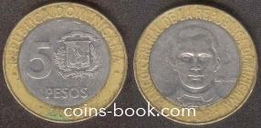 5 песо 2002