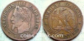 2 сантима 1862
