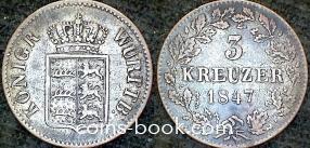 3 крейцера 1847