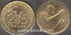 25 франков 2004