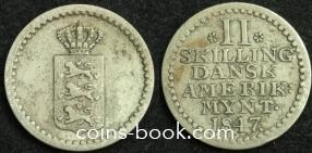 2 скиллинга 1847