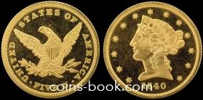 5 долларов 1840