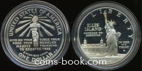 1 доллар 1986