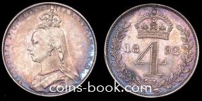 4 пенсов 1892