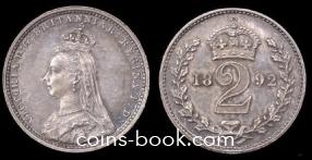 2 пенса 1892