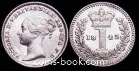 1 пенни 1843