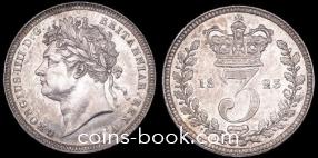 3 пенса 1823