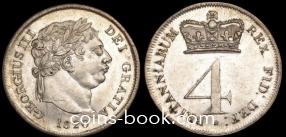 4 пенса 1820