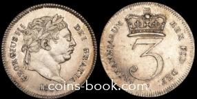 3 пенса 1820
