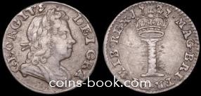 1 пенни 1727