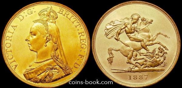 5 фунтов 1887