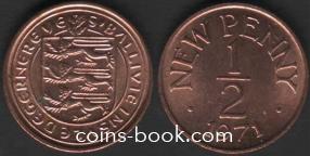 1/2 новых пенни 1971